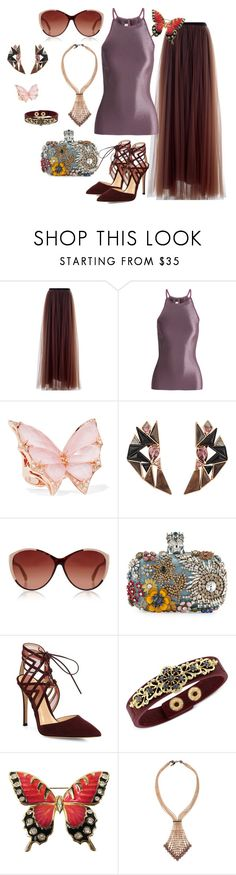 """Chocolate and cocoa"" by vk99style ❤ liked on Polyvore featuring Marni, Barbara Casasola, Stephen Webster, Nak Armstrong, Linda Farrow Luxe, Alexander McQueen, Gianvito Rossi, Jessica Simpson, Sharra Pagano and chocolate"
