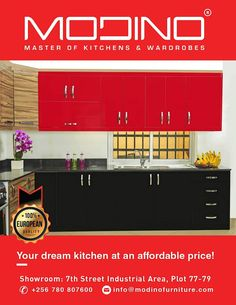 The heart of a happy home belongs in the kitchen. Visit our showroom on Plot 77/79 7th street Industrial Area. #kitchen #kitchencabinets #wardrobes #modern #furniture
