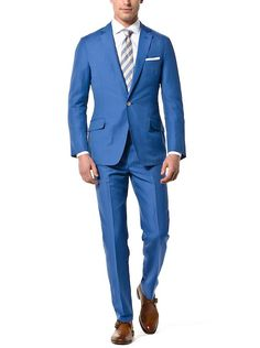 Ink Blue Solid Linen | J.Hilburn - a perfect summer wedding suit!