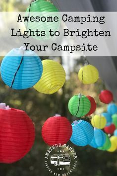 Awesome Camping Lights to Brighten Your Campsite Cool Camping Gadgets, Camping Hacks, Camping Ideas, Campsite Decorating, What To Bring Camping, Camper Lights, Outside Decorations, Gifts For Campers, Camping Coffee
