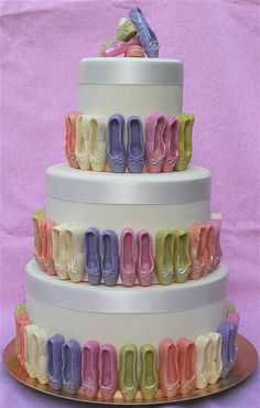 Ellie's 4th Birthday cake?! She Loves Ballerinas! Ballerina Party: Ballet Slippers cake