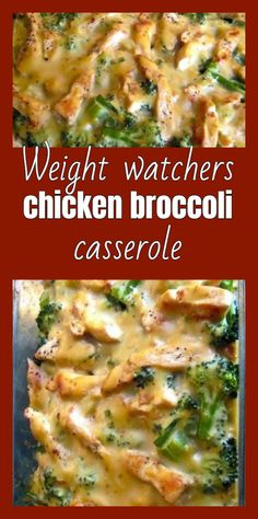 This healthy casserole is filled with chicken, broccoli and mushrooms in a creamy & light sauce. Your family will love it! Skinny Recipes, Ww Recipes, Chicken Recipes, Cooking Recipes, Healthy Recipes, Healthy Meals, Chicken Meals, Healthy Tuna, Canned Chicken