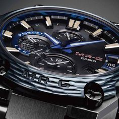 Our masterfully metal crafted and now Bluetooth connected MR-G makes its Baselworld - The Watch and Jewellery Show debut dressed in black and Japan blue. Available September Men's Watches, Cool Watches, Jewelry Show, Jewellery, Editions Mr, Baselworld 2017, Mens Digital Watches, Time T, Casio G Shock