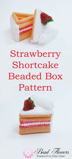 This beading tutorial shows you how to make a beaded box using Peyote stitch. It is themed as strawberry shortcake and will hold a few little treats. Beading pattern designed by Katie Dean, Beadflowers