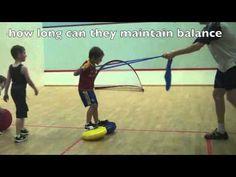 ▶ Balance Coordination Games: Waterski on Balance Discs Fun Games for Kids Online - YouTube