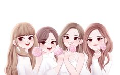 Blackpink in your area Bff Pics, Bff Pictures, Best Friend Pictures, Pictures To Draw, Best Friends Cartoon, Friend Cartoon, Friend Anime, Anime Best Friends, Best Friend Drawings