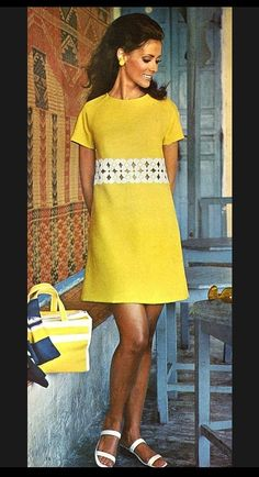 1969 Fashion, 1920s Fashion Women, Grunge Fashion, Fashion Photo, Vintage Fashion, Womens Fashion, Classic Outfits, Retro Dress, The Dress