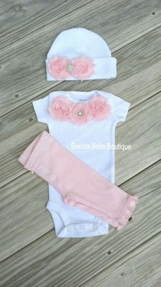 Baby Girl Clothes Girl Take Home Outfit Girl Coming Home Outfit Chelsea Pink Flower Newborn Outfit