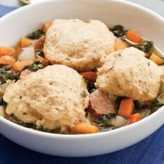 Root Vegetable Stew with Dumplings; With NO oil or Sausage, with 1/2 pound each rutabaga-turnips-carrots-beets, and using Kale, Total Calories = 634 (Dumplings with skim milk Total Calories = 971)