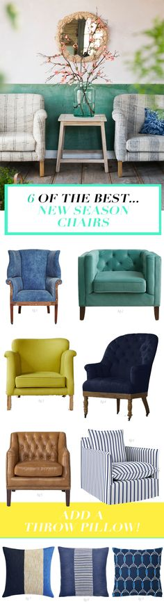 Colorful armchairs for the living room