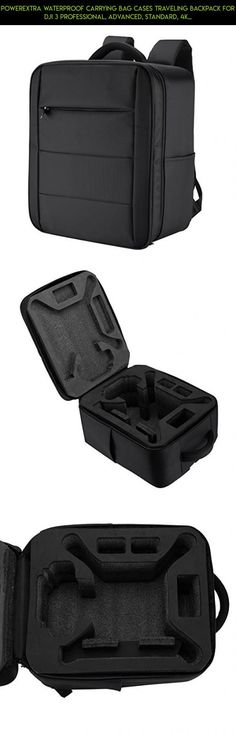 Powerextra Waterproof Carrying Bag Cases Traveling Backpack for DJI 3 Professional, Advanced, Standard, 4K Quadcopter Drone and Accessories - Upgraded #dji #phantom #standard #3 #gadgets #shopping #kit #racing #technology #plans #fpv #products #tech #4k #camera #parts #drone