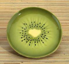 Kiwi Plate Collectible Fruit Ceramic Glass Kitchen Platter Dish