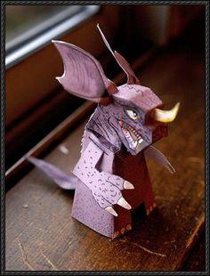 Frankenstein vs. Baragon - Kaiju Baragon Free Paper Toy Download