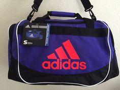 1b1c1754ad adidas Defense Small Duffel Night Flash solar Red Sport Gym Carry 19x11x11