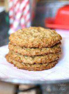 Crispy-Chewy Oatmeal Cookies...the perfect balance of crunch, with caramelly edges and a soft chewy center!
