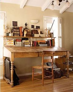studio....just maybe I wouldn't procrastinate if I had this fabulous work desk.
