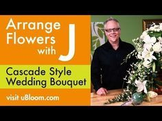 How to Make a Cascading Bridal Bouquet with Roses, Orchids and Calla Lilies - YouTube