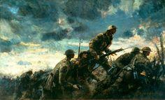 ww1 battle painting - Google Search