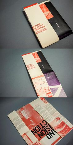 Film and Television Production Courses Brochure Design 2013