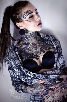 Picture of Monami Frost Face Tattoos, Hot Tattoos, Pretty Tattoos, Beautiful Tattoos, Body Art Tattoos, Girl Tattoos, Tattoos For Women, Colour Tattoos, Tattoed Women