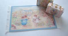 dollhouse rug beatrix potter mat 12th scale miniature by Rainbowminiatures on Etsy