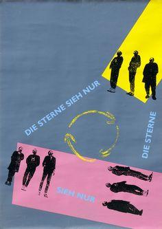 Die Sterne, 1988  Bandposter vonFrank Spilker, Mirko Breder  Design© Susanne Beimfohr, 1988