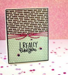 Simon Says Stamp Monthly card kit #valentinesdaycard #handmadecard#simonsaysstamp #prettypinkposh #lovecard