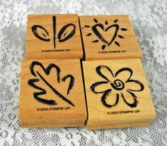 "Stampin Up Stamp Set ""Delightful Doodles"" 2002 RETIRED and MINT Rubber Stamp Set,for Scrapbooking. Cardmaking, Journaling, Crafts"