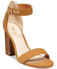 Bar III Mikayla Block Heel Sandals, Only at Macy's | macys.com