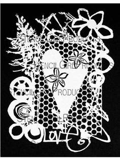 Love Collage Stencil by Traci Bautista for StencilGirl $14.00