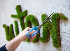 The Green Art: 25 Ideas for Moss Graffiti Graffiti En Mousse, Art Vert, Moss Art, Diy Furniture Couch, Dresser Furniture, Furniture Plans, Decoration Plante, Wie Macht Man, Love Garden