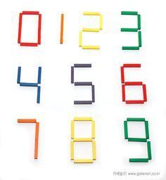 Stick numbers, nothing new. Made these with twigs- Zahlen aus Stäben (Sticks) von Fröbels Legespiel 8