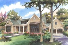 Saluda River Club - Collection of Homes - Columbia, SC- I like the layout of this one story home Single Story Homes, One Story Homes, Home Finder, Urban Cottage, Lexington Home, Barbie Dream House, Happy House, Home And Family, Family Room