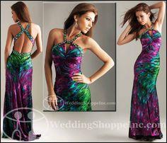 dbd38ff0ec Exotic Prom Dresses 2012  The Peacock Dress Prom Trend