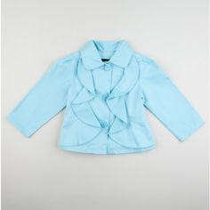 Ruffle jacket little girl.