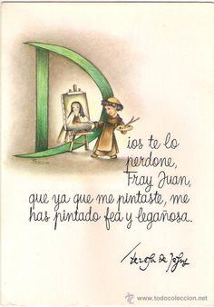 -48454 POSTAL DIBUJO SANTA TERESA DE JESUS, ILUSTRACION SARA, CON MENSAJE