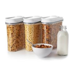 OXO Cereal Storage Containers I love these containers, cereal stays fresh and they look pretty when I put them on my table for cereal bar morning❤️