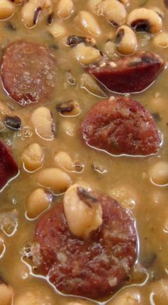Carrie told me about Emeril Lagasse's Smoked Sausage and Black-Eyed Peas recipe a couple of years ago. I finally made it. I must say, I think it's the best recipe for black-eyed peas that I have ev...