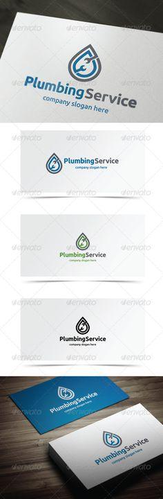Plumbing Service - Logo Design Template Vector #logotype Download it here: http://graphicriver.net/item/plumbing-service/7151761?s_rank=1217?ref=nexion
