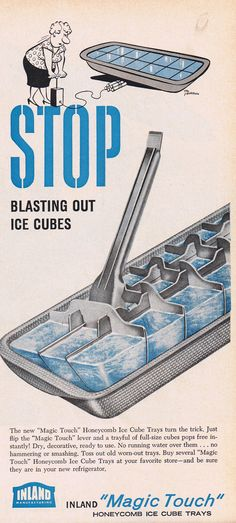 Magic Touch Ice Cube Trays, 1955
