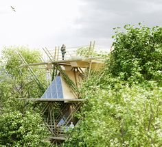 A Concept Low-Cost Bamboo Hotel That Can Keep Growing Taller And Wider - DesignTAXI.com
