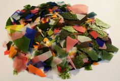 Bullseye 90 COE Confetti Multi-color Mini-Mix Glass Chips #Bullseye