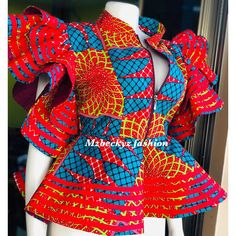 Hello 2020 Simple and Stunning Ankara Top/Blouse Styles - Naija's Daily ankara style African Wear Dresses, Latest African Fashion Dresses, African Inspired Fashion, African Print Fashion, African Attire, African Blouses, African Tops, Ankara Tops Blouses, High Street Fashion