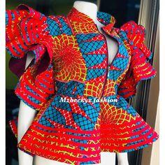 Hello 2020 Simple and Stunning Ankara Top/Blouse Styles - Naija's Daily ankara style Ankara Skirt And Blouse, African Maxi Dresses, Latest African Fashion Dresses, African Attire, Ankara Fashion, African Men, African Style, High Street Fashion, African Inspired Fashion