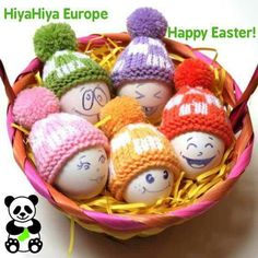 Knitted caps for easter eggs