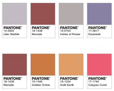 Here are some of the suggested pairings shown on Pantone's website. I like the top one as it's quite sophisticated. The bottom one reminds me of the 1970s. Are they suggesting that the current zeitgeist has a hippy flavour? Would you agree? I don't.