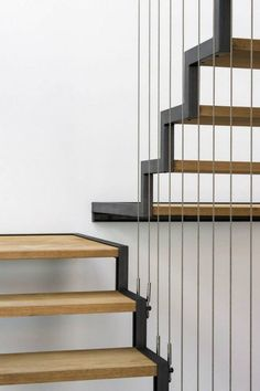 Image 30 of 37 from gallery of JA House / Filipe Pina + Maria Ines Costa. Photograph by Joao Morgado Interior Staircase, Staircase Design, Staircase Ideas, Interior Design Your Home, Balustrades, Glass Stairs, Stair Handrail, Railings, Steel Stairs