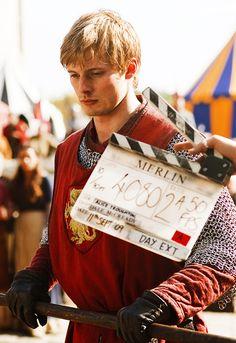 Bradley James - Filming Arthur