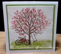 Stamp & Scrap with Frenchie: Sheltering tree on Canvas Frenchie Video
