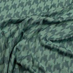 "Feinstrick Viskose ""Hahnentritt"" (petrol) Pullover, Outdoor Blanket, Slip Dresses, Cast On Knitting, Sweaters, Sweater"